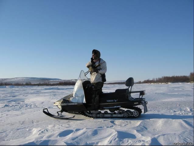 снегоход на охоте